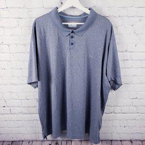 Columbia Omni-shade Blue Short Sleeve Polo Shirt